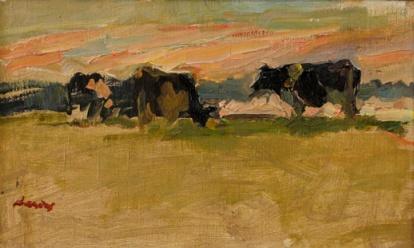 Koeien in de namiddag, circa 1990