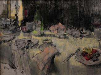 Stilleven met gedekte tafel, circa 1989