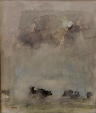 Koeien in de mist, circa 1985
